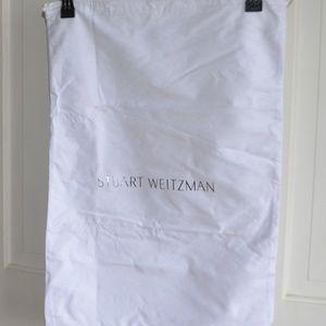 Stuart Weitzman XL dust bag White w/silver logo
